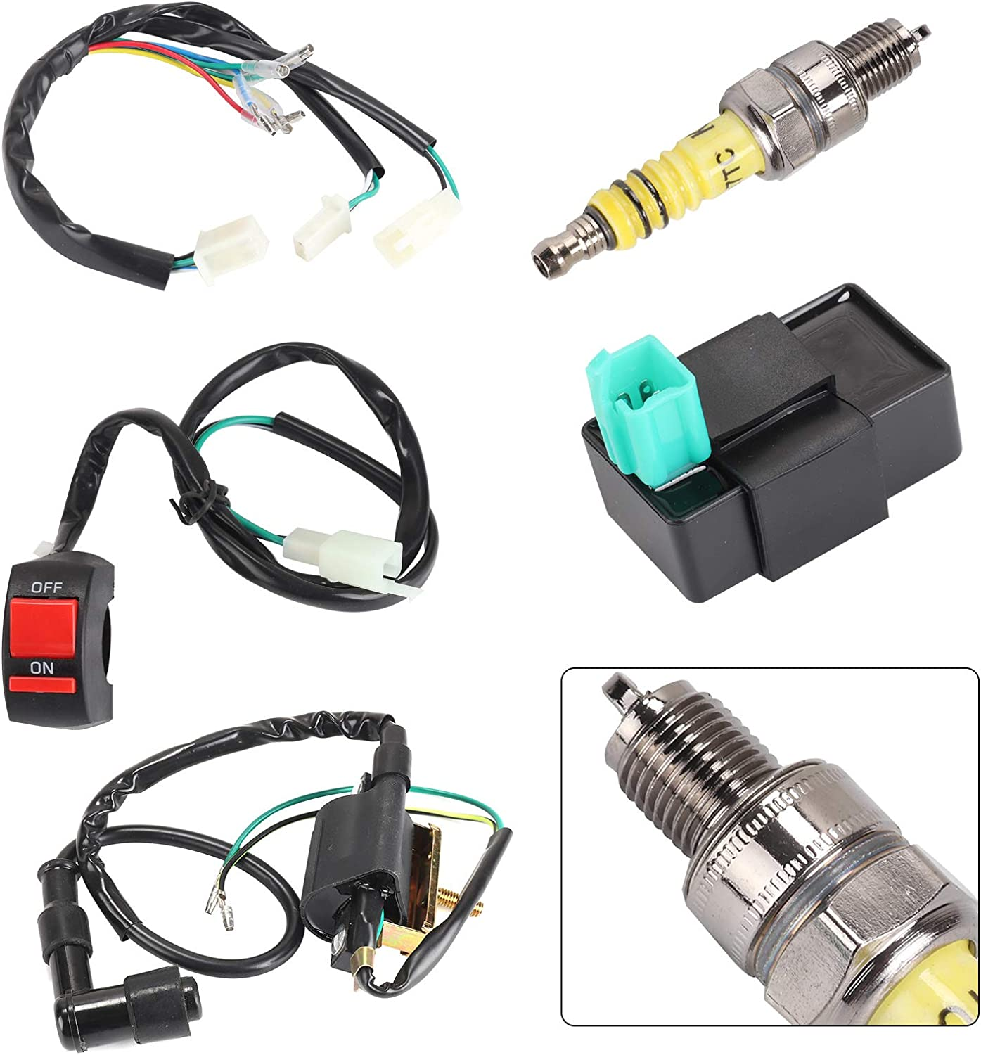Shoze Wiring Loom Off Switch Coil Cdi Spark Plug Kit For 110cc 125cc 140cc Pit Bikes Amazon Co Uk Kitchen Home