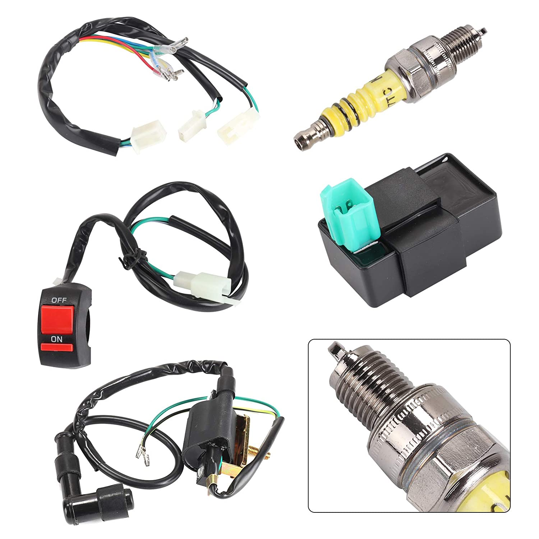 Semoic Wiring Loom Kill Switch Coil CDI Plug For 110cc 125cc 140cc Pit Bike