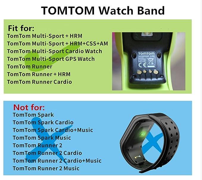 Correa de silicona de reloj de repuesto para TomTom, color gris: Amazon.es: Deportes y aire libre