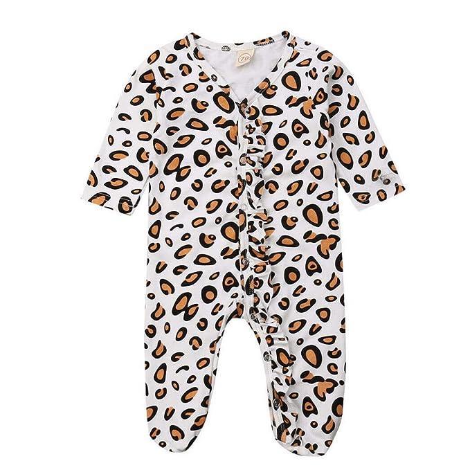 Aiserkly recién Nacido bebé niña niño Leopardo impresión Ropa ...