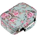 BTSKY New High Capacity Zipper Pens Pencil Case With Printing Pattern- Multi-functional Stationery Pencil Pouch Stretchy 72 Slots Colored Pencil Case Portable Pencil Bags with 2 Removable Sleeves Rose