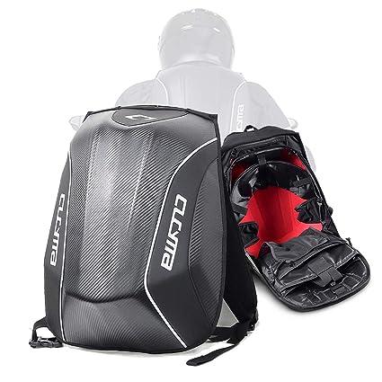 2349cf772f3e Motorcycle Knight Bag Motocross Riding Racing Storage Bag Carbon Fiber  Motorbike Helmet Backpack