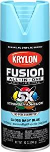 Krylon K02840007 Fusion All-In-One Spray Paint for Indoor/Outdoor Use, Gloss Baby Blue