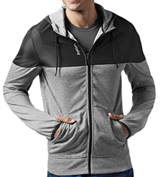 4fa08d08c94e Reebok Homme Veste de Survêtement Sports Slim Fabmix TR: Amazon.fr ...