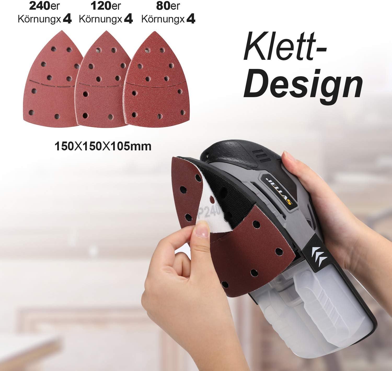 40 Schleifbl/ätter f/ür Bosch PSM 100A Detailschleifer 60 80 120 240 K/örnung
