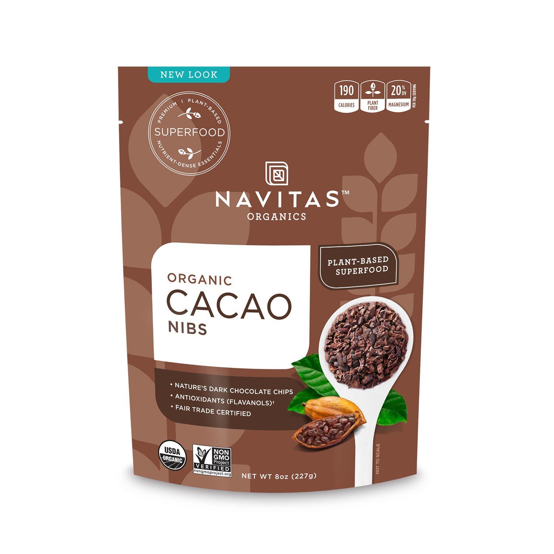 Navitas Organics Cacao Nibs, 8 oz. Bag(packaging may vary)