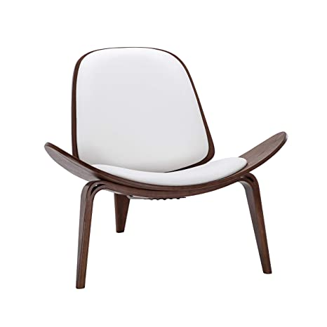 Marvelous Amazon Com Belleze Mid Century Modern Shell Side Accent Andrewgaddart Wooden Chair Designs For Living Room Andrewgaddartcom