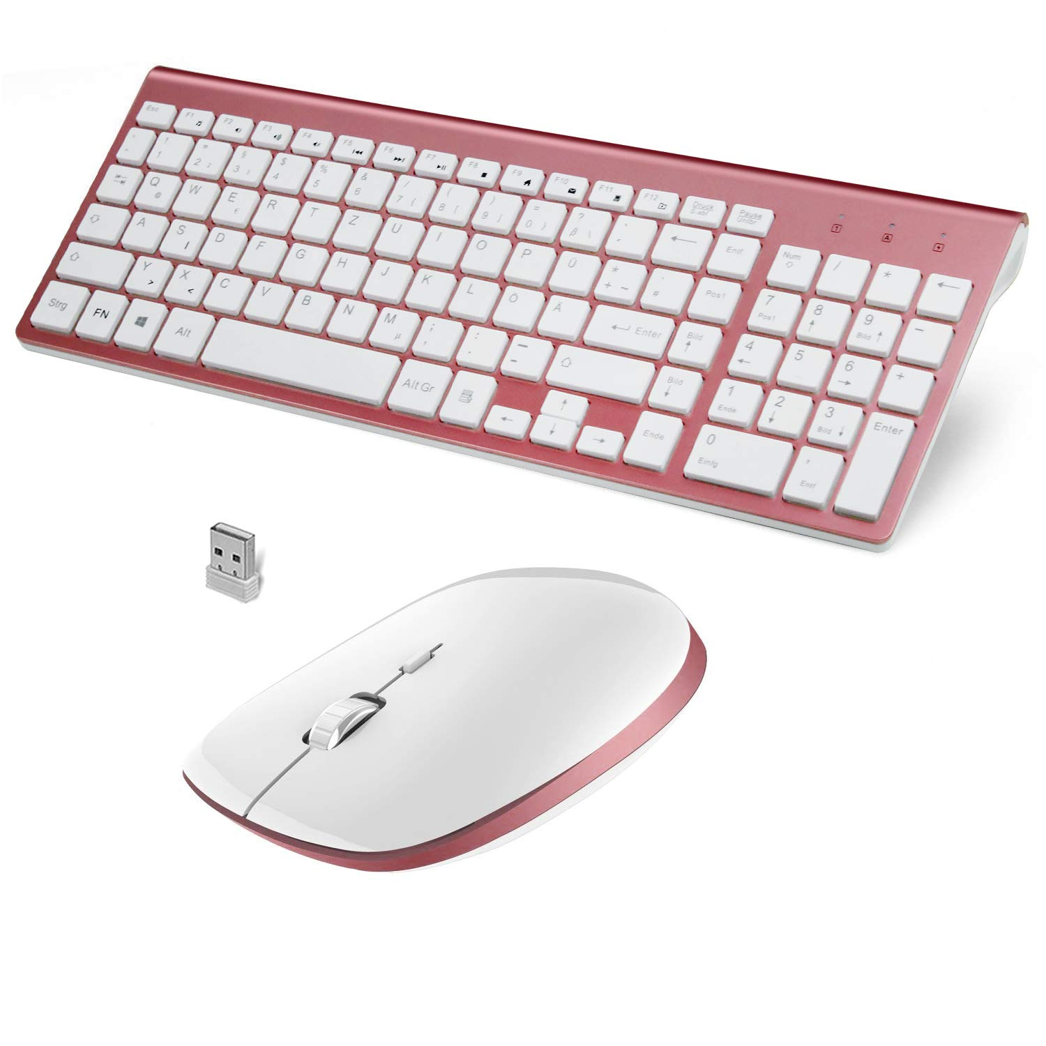 FENIFOX QWERTZ Tastatur Maus Set Kabellos Wireless Amazon puter & Zubehör