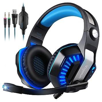 Cascos Gaming, Vigorun GameK2 Auriculares para Juegos Over Ear con Micrófono con Cancelación de Ruido