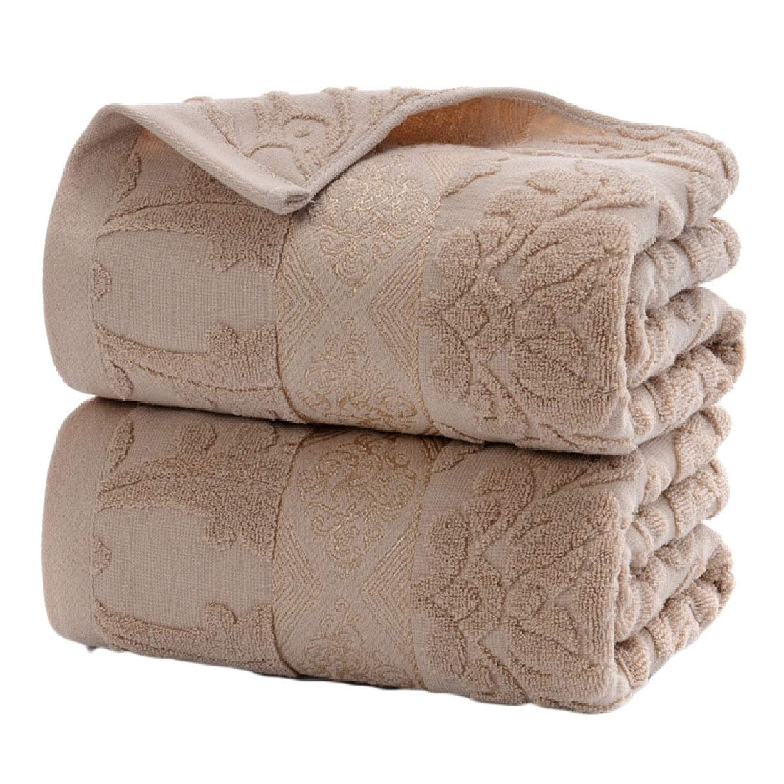 Sebaby Everyday Eco-Friendly Variety Pool Gym Quality Plain Fit-and-Flare Soft Contenta Classic Extra Large Fade-Resistant Cute Bath Towel Set Khaki 70140