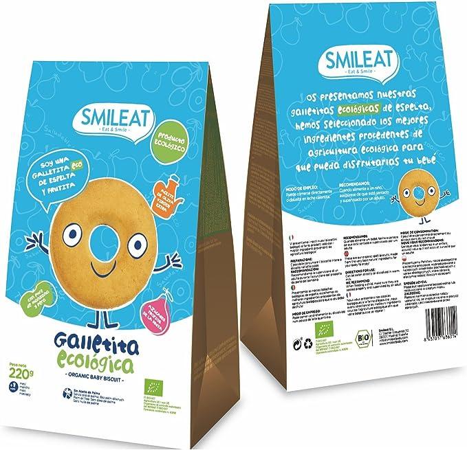 Smileat - Galletas Ecológicas De Espelta Y Manzana Con Aceite De ...