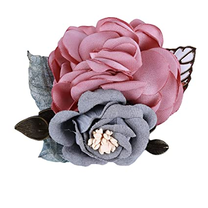 7a8286fa4 Image Unavailable. Image not available for. Colour: CanVivi Camellia Brooch  Cloth Fabric Flowers Pin ...