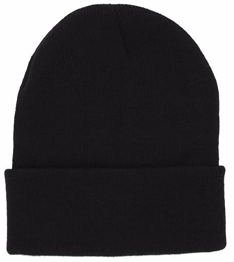 4be46d1ab7b DealStock Plain Knit Cap Cold Winter Cuff Beanie (40+ Multi Color  Available) (