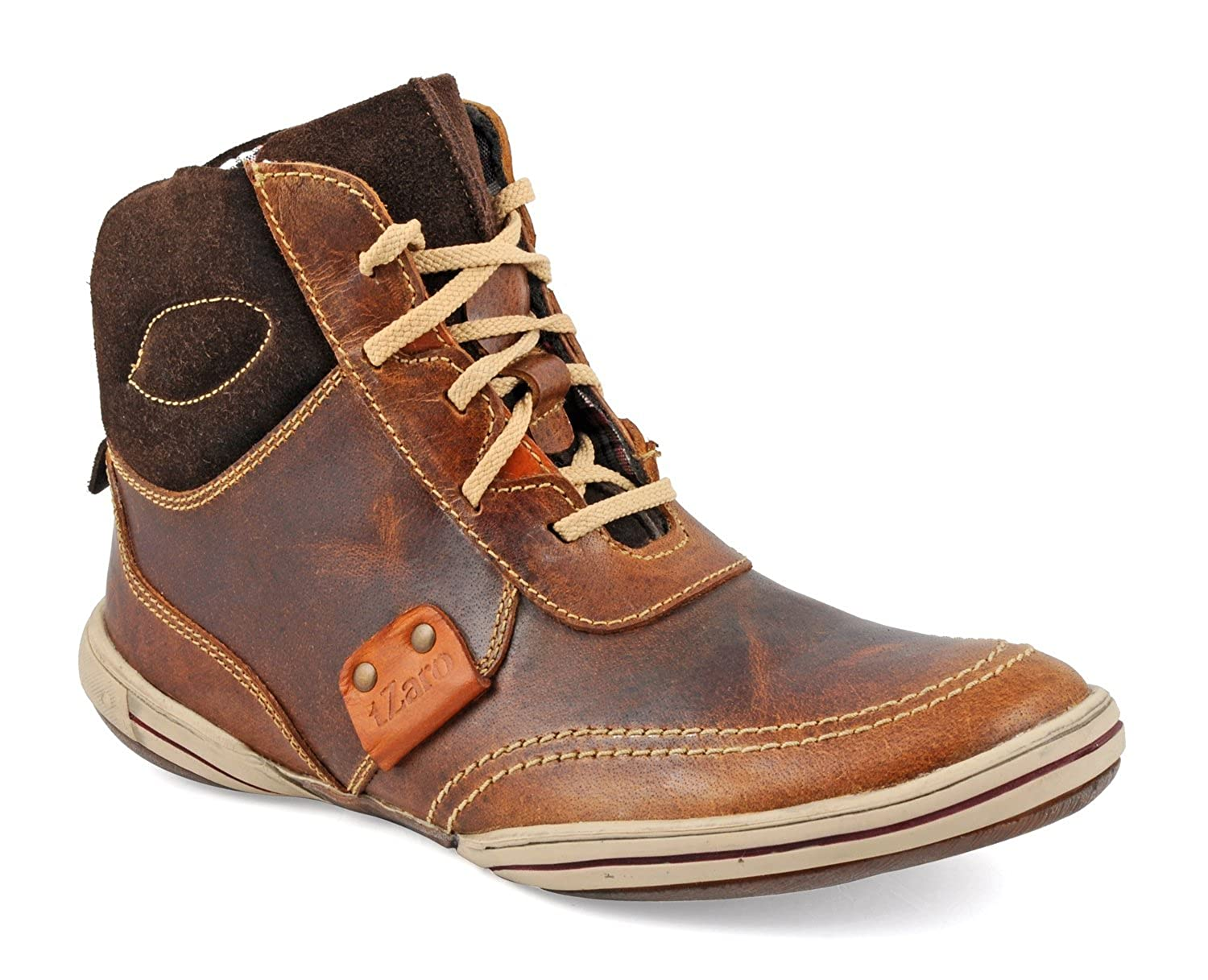 346ad1f0f6df tZaro Tan Wall Genuine Leather Boots  Buy Online at Low Prices in India -  Amazon.in