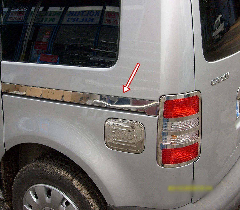 CADDY MK3 - Riel para puerta corredera lateral de acero inoxidable cromado (2 piezas (2004-2015): Amazon.es: Coche y moto