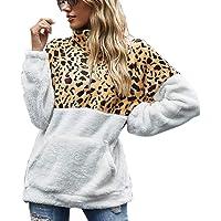 Tuopuda Mujer Sudadera Caliente y Esponjoso Tops Chaqueta Suéter Abrigo Jersey Mujer Talla Grande Hoodie Larga Pullover…