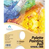 Bellofy Palette Painting Pad – Disposable 50 Sheets - 9x12 inches, 24lb / 65GSM - Perfect for Mixing Acrylic Paint, Oils, Wat