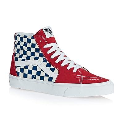 7ec11fccd79c Vans Mens U SK8 HI BMX Checkerboard True Blue RED Size 4