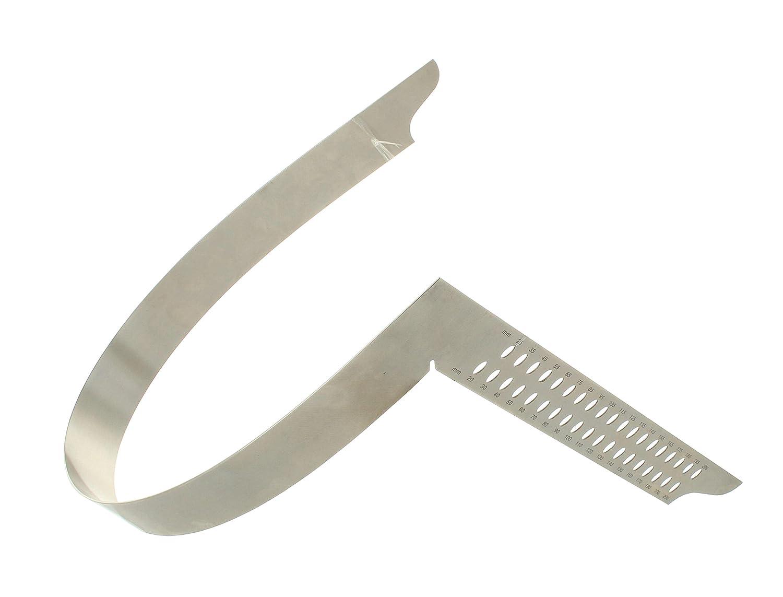 scala millimetrica tipo A e fori per tracciatura Squadra da carpentiere 800 mm Hedue ZV V082