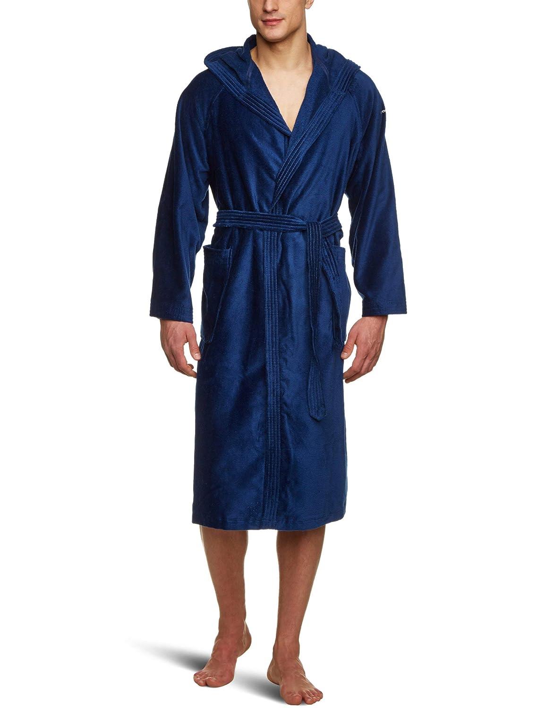 110401//908//701 Peignoir /à capuche Bleu Taille S Tom Tailor Basic Velours