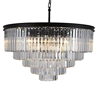 Odeon crystal chandelier 17 lights round pendant hanging light extra odeon crystal chandelier 17 lights round pendant hanging light extra large crystal prism chandeliers lighting black aloadofball Image collections