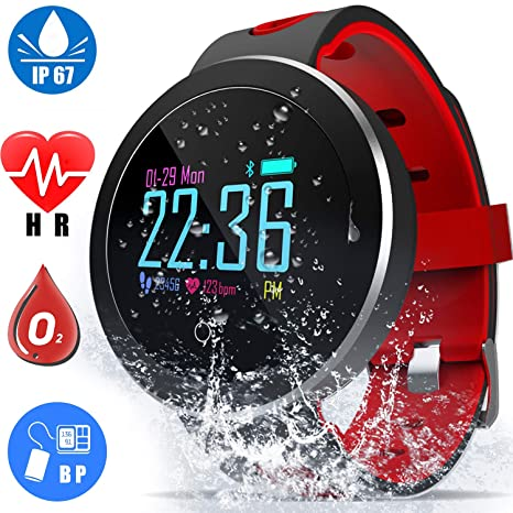 Fitness Tracker with Heart Rate Blood Pressure Monitor Smart Watch GPS Activity Tracker for Men Women Summer Sport Smartwatch Calories Pedometer Sync ...