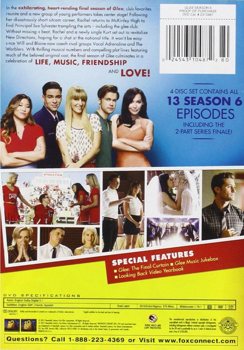 Amazon.com: Glee Season 6: Jane Lynch, Lea Michele, Matthew Morrison, Chris  Colfer, Dianna Agron, Dot-Marie Jones, Kevin McHale, Chord Overstreet, ...