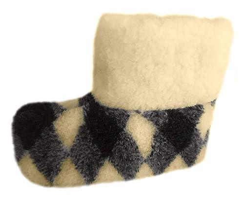 mode la plus désirable remise pour vente qualité authentique pour Homme 100% Pure Laine de Mouton Chaussons Bottes avec ...
