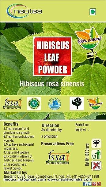 Amazoncom Neotea Hibiscus Leaf Powder 300g Beauty