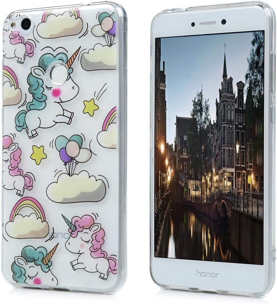 3x Funda Huawei P8 Lite 2017, Carcasa Silicona Gel Case Ultra Delgado TPU Goma Flexible [Proceso IMD] No se descolora Anti-scrach Cover para Huawei P8 ...