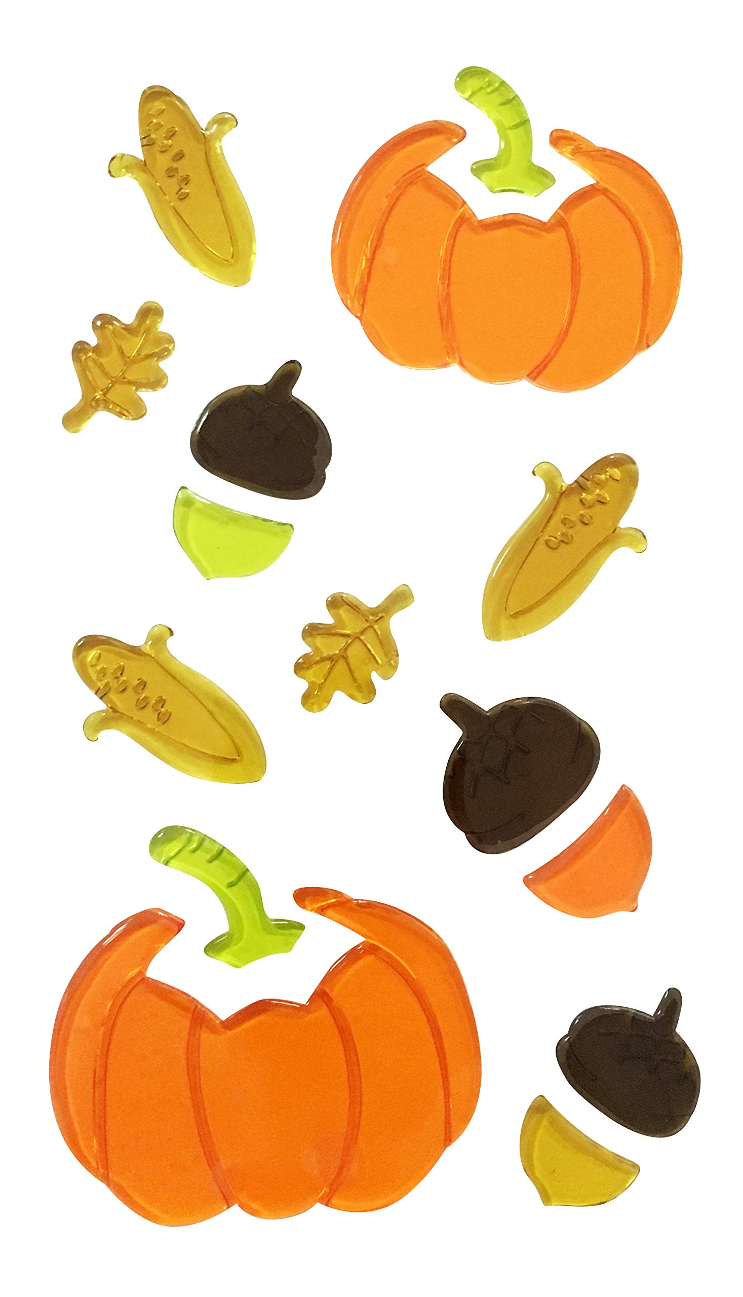 HL Gel Pumpkin Window Cling (Pack of 2) DCR-518025 by H (Image #1)