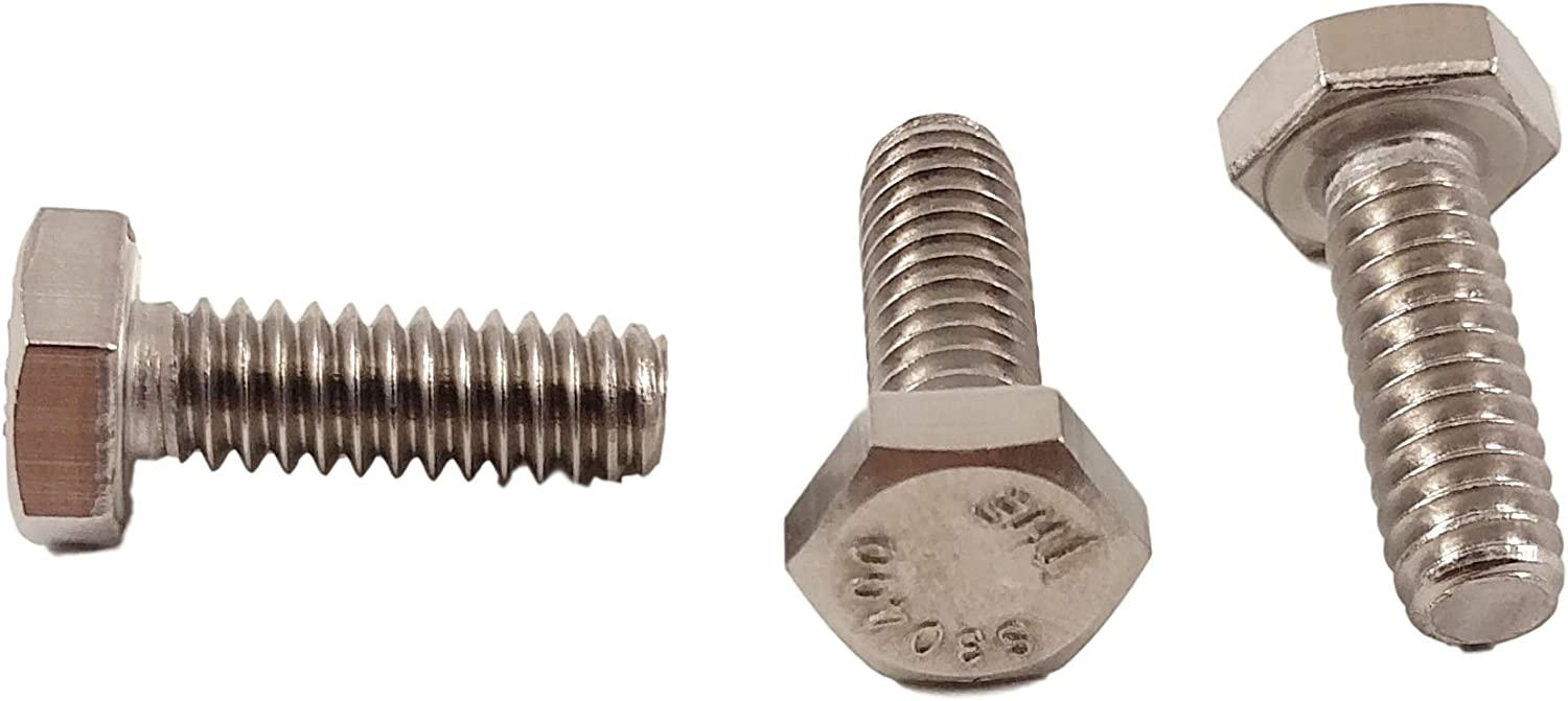 """Stainless 1/4-20 x 3/4"""" Hex Head Bolts (1/2"""" to 5"""" Length in Listing), 304 Stainless Steel (1/4-20x3/4""""(100pcs))"""