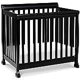 DaVinci Kalani 4-in-1 Convertible Mini Crib in Ebony, Greenguard Gold Certified