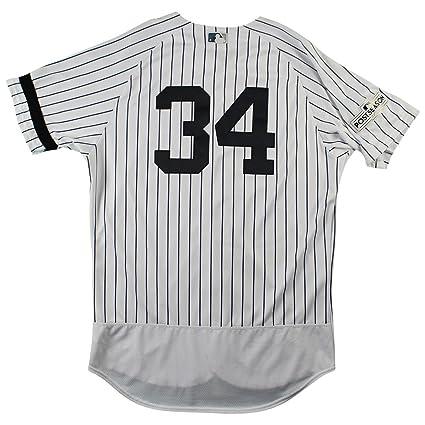 Jaime Garcia New York Yankees 2017 Postseason Game Used  34 ... 0304689f7b0