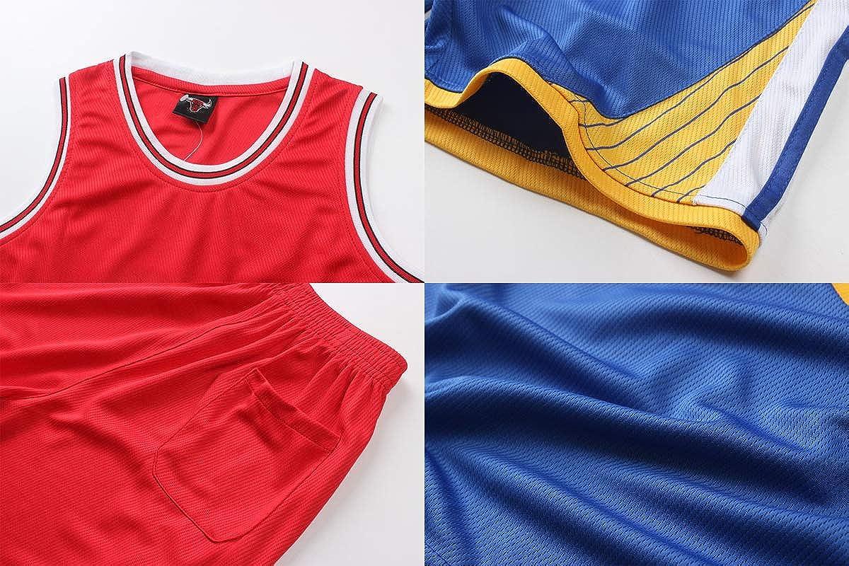 Teach Leanbh Boys #23#24#30 Basketball Jersey 2-Piece Performance Tank Top and Shorts Set