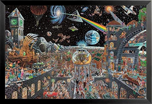 Dark Side of the Moon Poster by Fishwick Pink Floyd 24x36