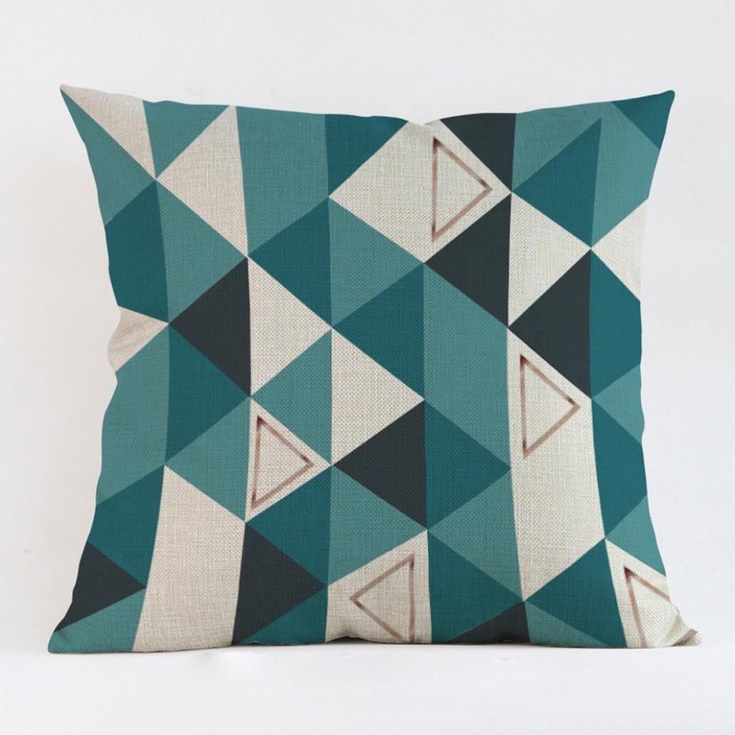 Buimin Decorative Colourful Throw Pillow Case Geometric Home Sofa Cushion Cover #3 (A)
