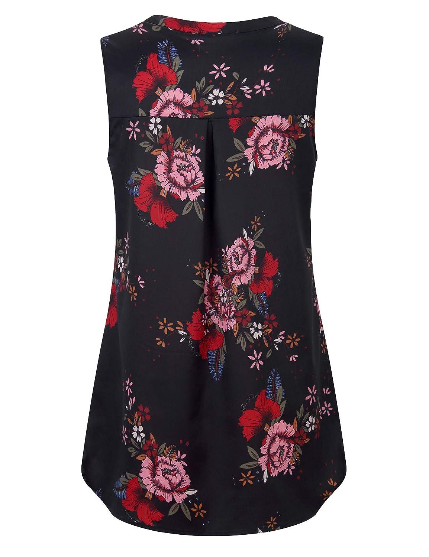 4d48cfb88 Furnex Women's V Neck Chiffon Blouse Half Zip up Casual Tunic Shirts at  Amazon Women's Clothing store: