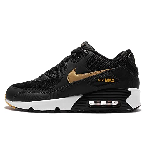 Buy Nike Kid's Air Max 90 Print Mesh Gs, BlackMetallic Gold