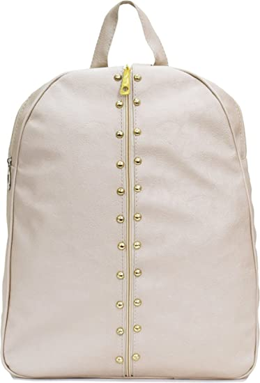 1d615902a3 Buy Sahal Fashion Women s PU Beige Backpack Online at Low Prices in India -  Amazon.in