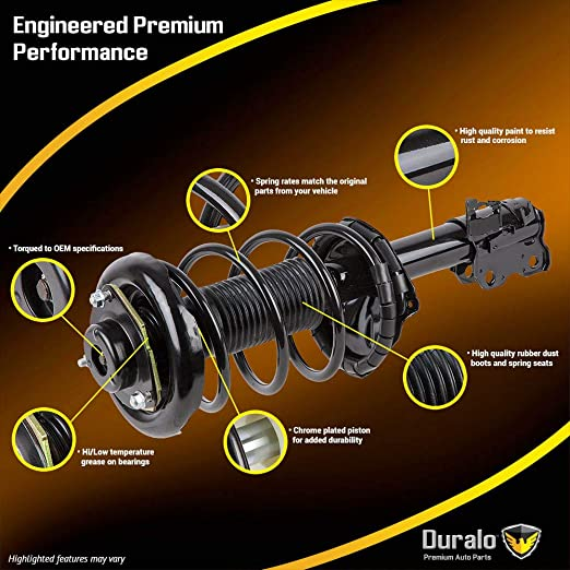 Duralo Front Rear Strut /& Spring Assembly Set For Honda Accord 2003-2007 Duralo 1192-1300 New