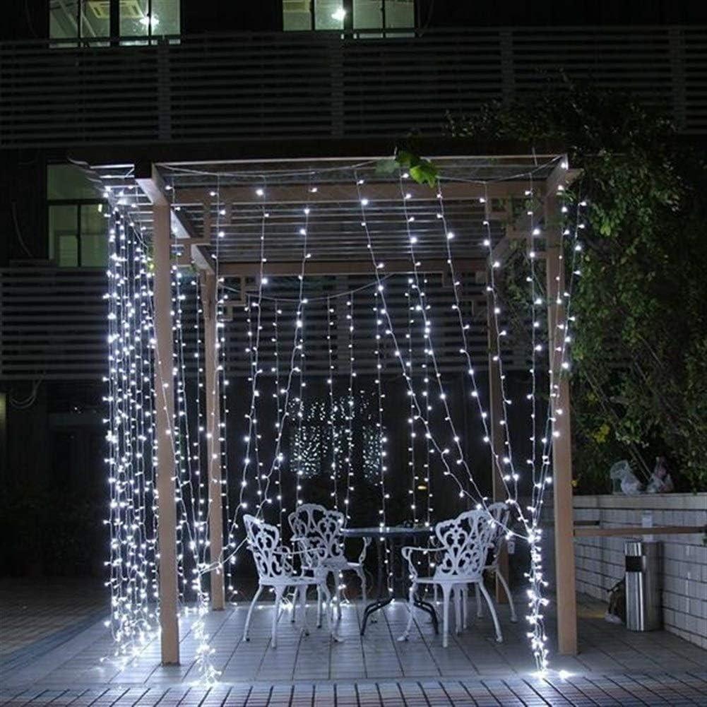 Luces de jardín de alta calidad Luces LED, interior y exterior de la decoración del festival de Navidad 800LED impermeable boda hadas de la secuencia Partido al aire de cortina de luz