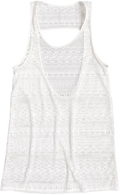 Roxy Women's Tank Crochet Cover Up Swimwear Large Marshmellow ERJX603093-WBT0-L