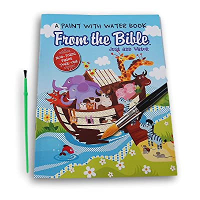 Lazy Days from The Bible Paint with Water Book and Paint Brush - 8'' x 10.5'': Toys & Games