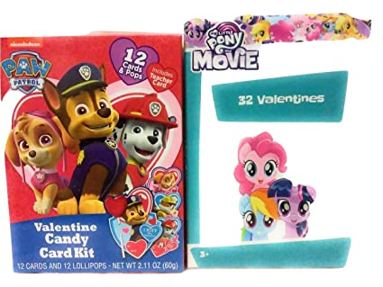 Amazon Com Happy Valentine S Day 2 Pack Candy Heart Paw Patrol 32