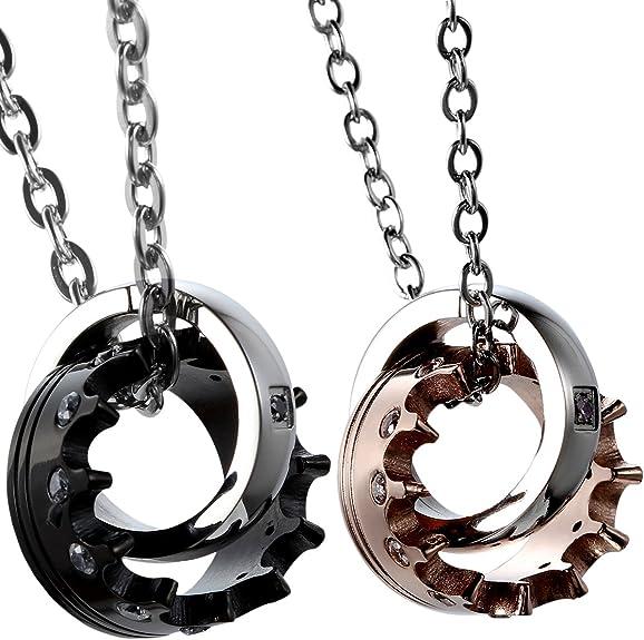juego de collares de anillos para parejas