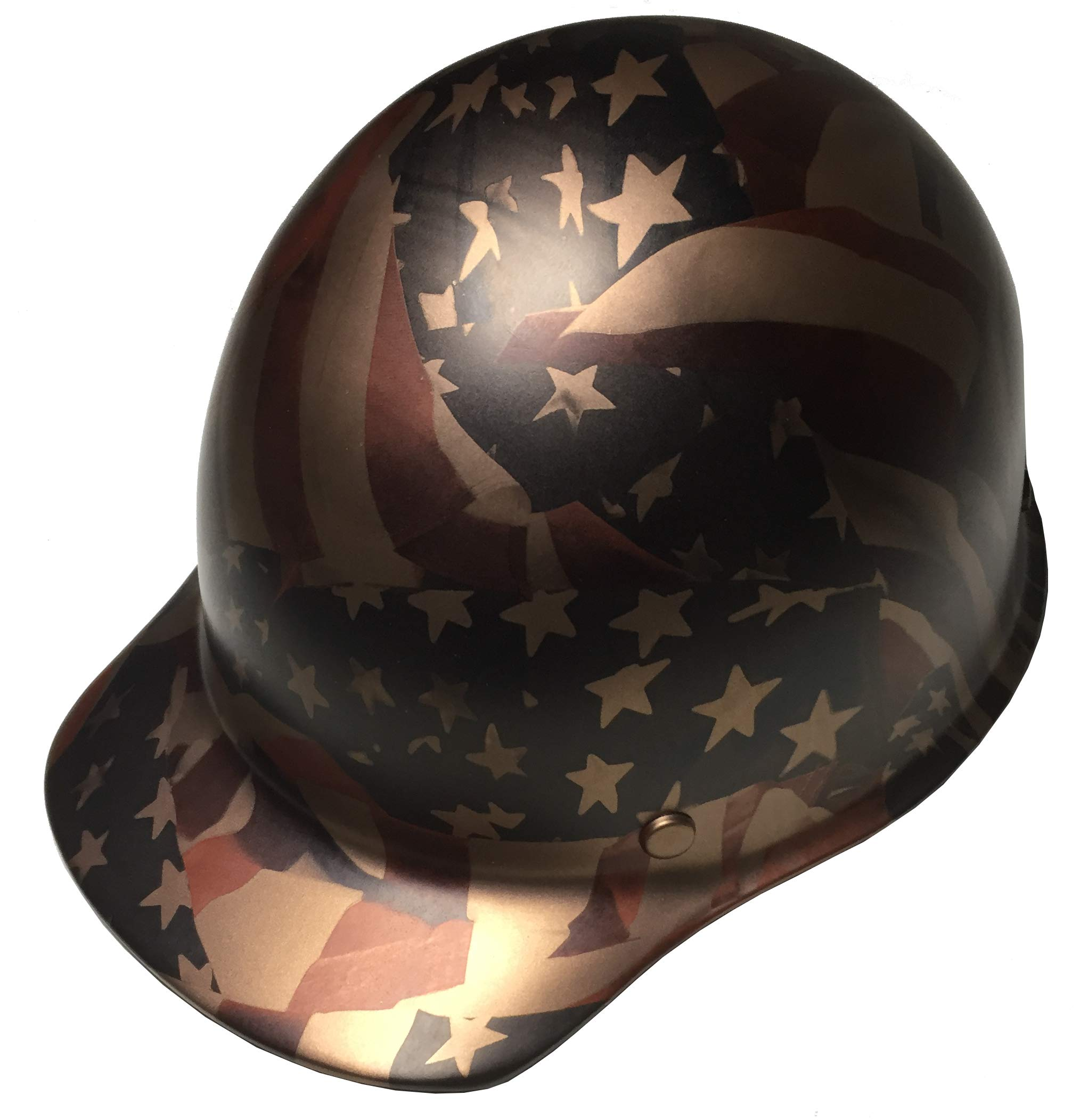 Hard Hat MSA Skullgard Cap Style Custom Copper Metallic American Flags Satin by Bag R Buck (Image #2)