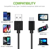Durable 3.3ft(1m) Type C Data Cable, Fast Charging
