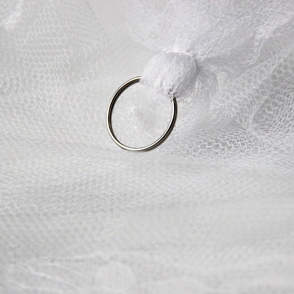 sin irritaci/ón de la piel ideal para ni/ños y ni/ñas protecci/ón contra mosquitos repelente natural Mosquitera de encaje blanco con mosquitera para cama doble