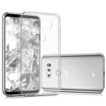 kwmobile Funda compatible con LG V30 / V30S / V30+ / V30S+ - Carcasa de [TPU] para móvil - Cover [trasero] en [transparente]